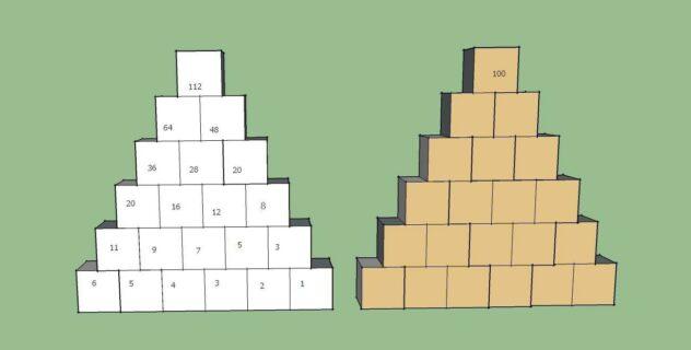 Dwie piramidy - pomoc wizualna do zadania